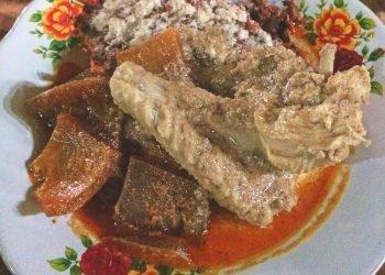 Gudeg Jogja sentuhan lidah Lampung yang pedas. (LAMPUNG POST/ATIKA)